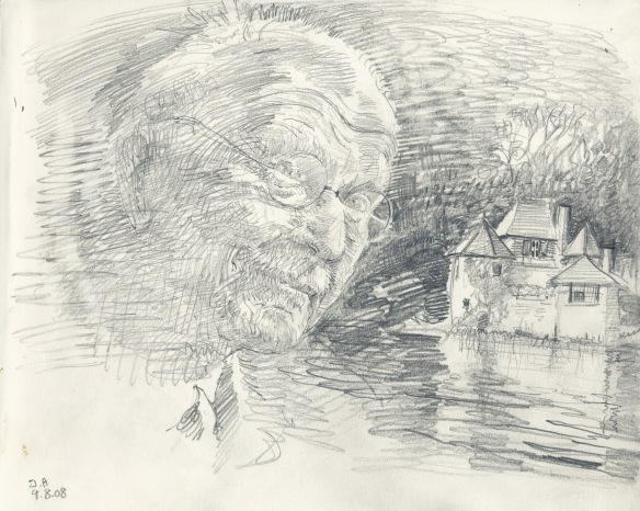 Jung and his house at Bollingen