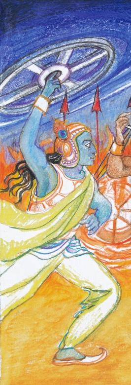 Sacred India Tarot - Krishna in Mahabharatha