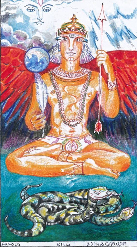 Sacred India Tarot - King Garuda of Arrows