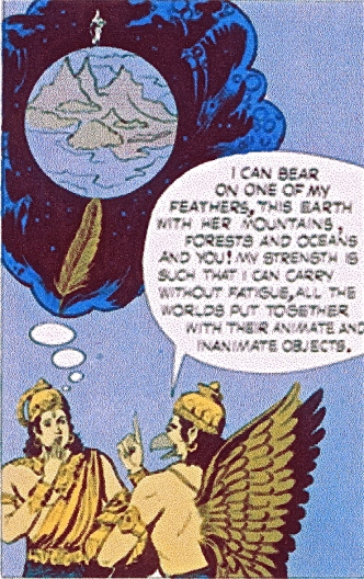 SITA visual reference from comic book - Indra & Garuda