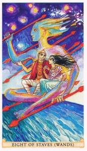 SITA Sacred India Tarot 8 staves