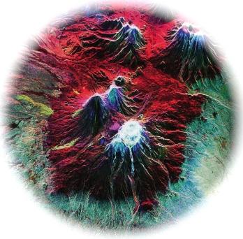 volcanic - satellite photo