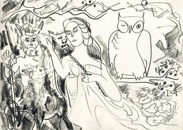 centaur, athene & owl 87