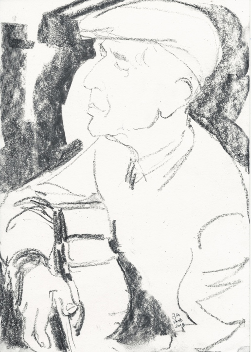 guitar sketch leonard cohen