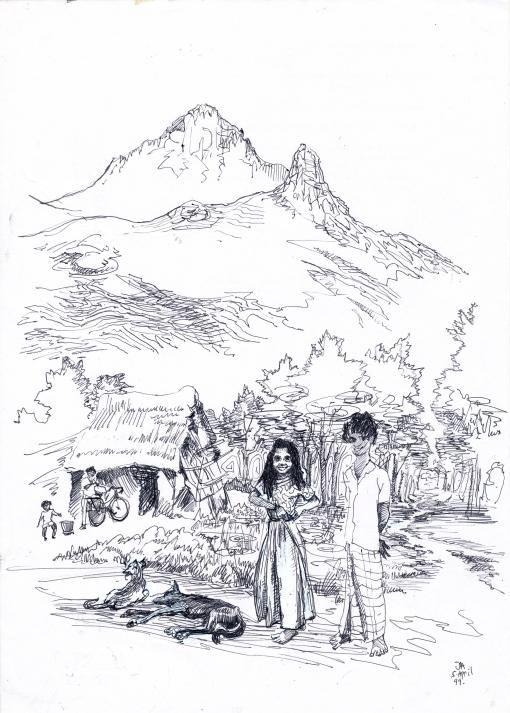 Arunachala village children