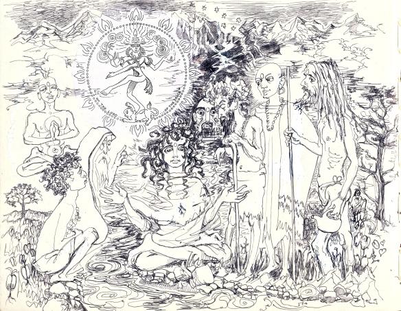 Gauri - Parvati - being pestered by sages