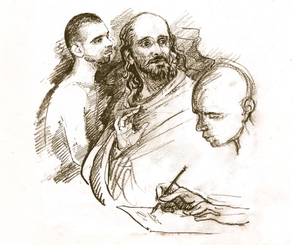 "Ramana sat in silence, then asked the Muni - ""Did you write down all I spoke?"""
