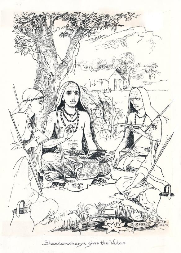 shankara gives the vedas copy