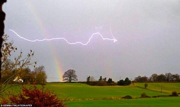 storm in devon:daily mail