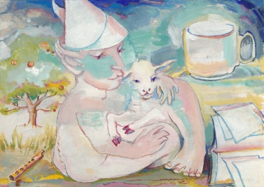 painting of Fool & Lamb 1988