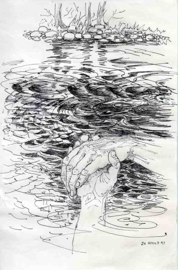 arizona handclasp, rising waters