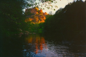 39 oak creek at sunset