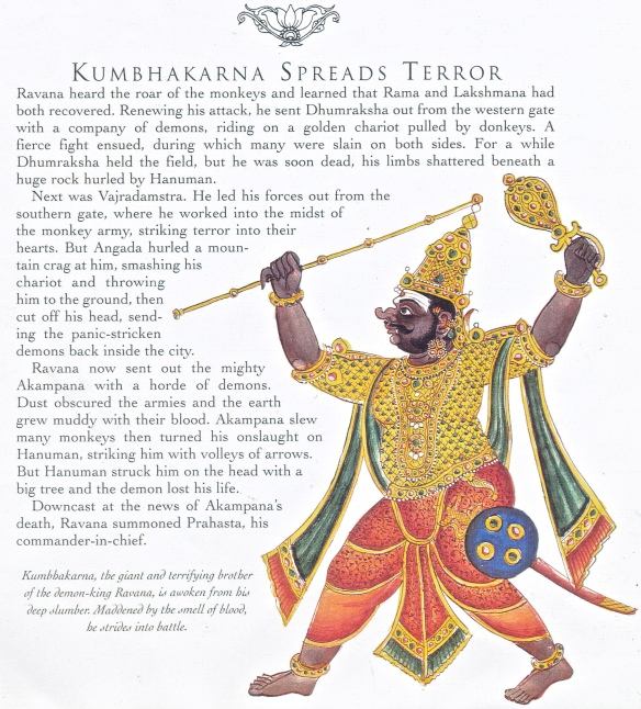 Visual reference for Kumbhakarna