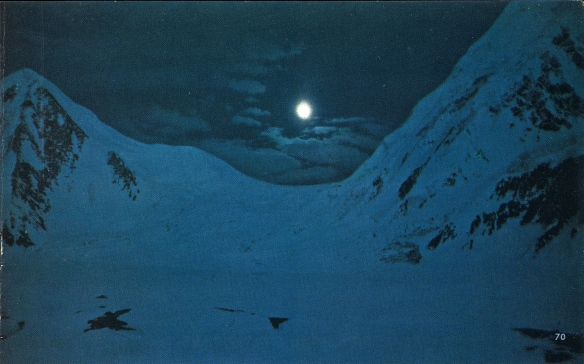 Moon over Conway Col, Karakorum, photo by Fosco Maraini