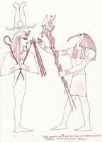 Osiris and Thoth