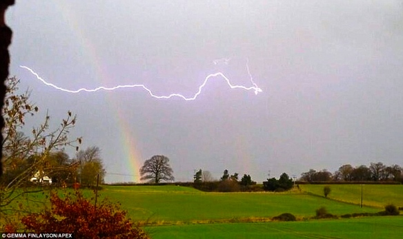 rainbow and lightning-daily mail