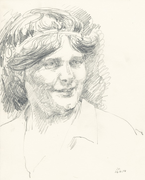 sketch of Dion Fortune, 2008 (2)