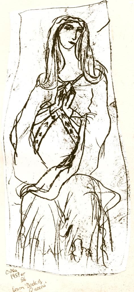 child madonna sketch 1957