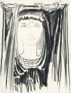 priestess of black isis sketch 2002