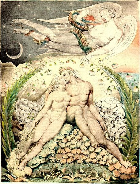 William Blake - satan watching the caresses of adam and eve