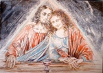 Last supper, Yeshua and Magdalene/j.adams