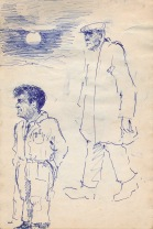 102 pestalozzi sketches - mr campbell & the gardener
