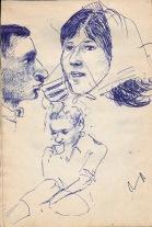 103 pestalozzi sketches - alain, deborah, marie claude