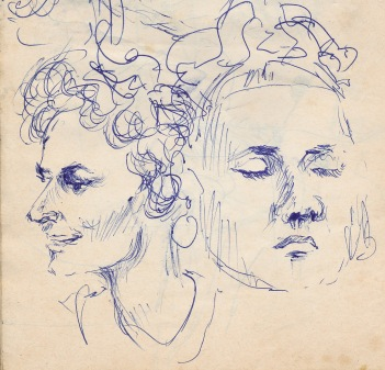 104 pestalozzi sketches - mrs cartlidge, marie claude