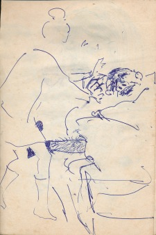 105 pestalozzi sketches - marie claude & alain at play