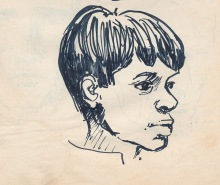 119 pestalozzi sketches - indian boy