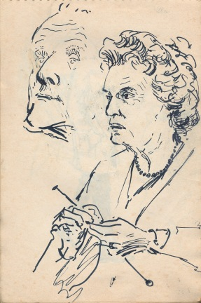 121 pestalozzi sketches - mr & mrs housekeeper