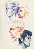 138 pestalozzi sketches - polish refugee & jigme