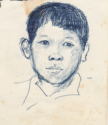 141 pestalozzi sketches - tibetan boy