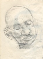 142 pestalozzi sketches - gandhi