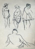 148 pestalozzi sketches - beach at hastings