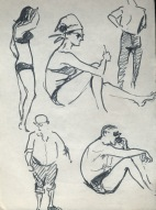 149 pestalozzi sketches - beach at hastings