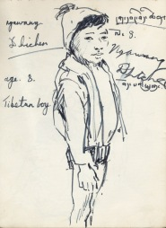 169 pestalozzi sketches - tibetan boy