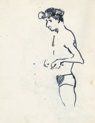 170 pestalozzi sketches - bather