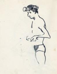 170 pestalozzi sketches - bather