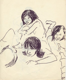 196 pestalozzi sketches - tibetan girls