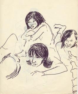 196 pestalozzi sketches - tibetan girls
