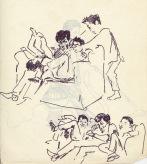 198 pestalozzi sketches - tibetan boys