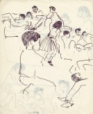 199 pestalozzi sketches - tibetan children