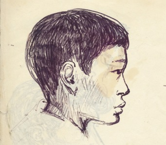 203 pestalozzi sketches - tibetan boy