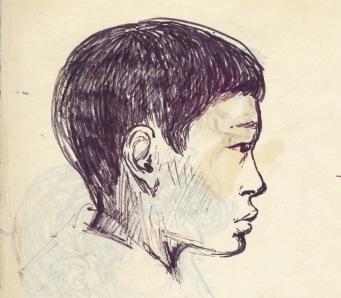 203 pestalozzi sketches - tibetan boy