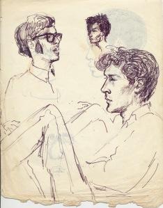 204 pestalozzi sketches - dave, max, john