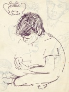 220 pestalozzi sketches - tibetan boy