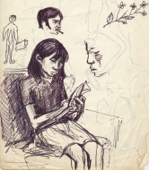 221 pestalozzi sketches - tibetan girl