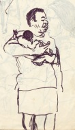 222 pestalozzi sketches - african lady