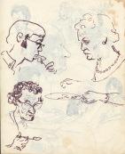 229 pestalozzi sketches - staff at lunch